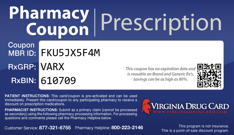 Virginia Drug Card - Free Prescription Drug Coupon Card